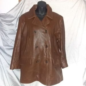 LAUREN RALPH LAUREN 100% LEATHER COAT